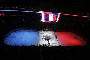 Spojené štáty - Los Angeles, zápas NHL medzi Los Angeles Kings a Edmonton Oilers.