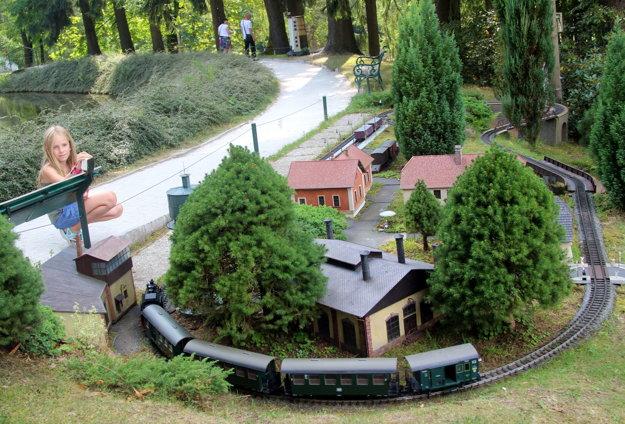 Deti do Bohemiaparku láka aj fukčný model Múzea železnice v Lužnej pri Rakovníku.