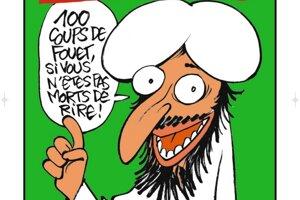 """Šaríja Hebdo: """"Sto rán bičom, ak nezomriete od smiechu!"""""""