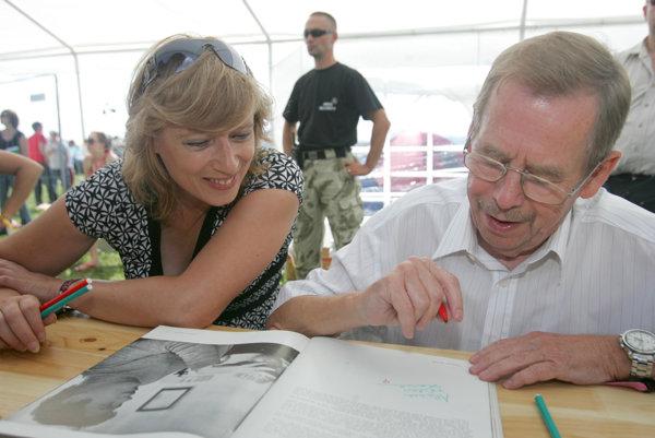Iveta Radičová a Václav Havel na festivale pohoda v roku 2008.