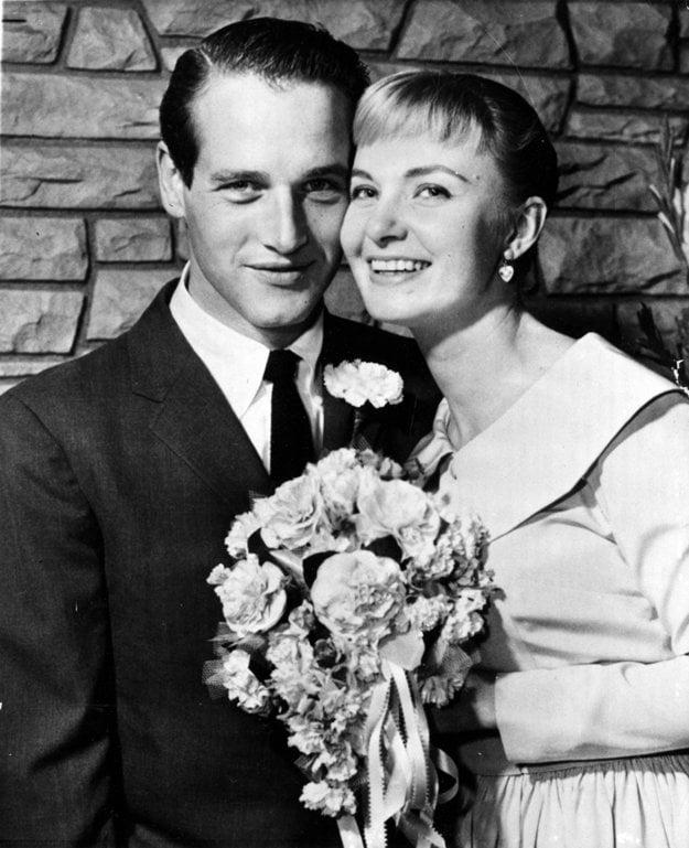 Joanne Woodward a Paul Newman v roku 1958 ako novomanželia