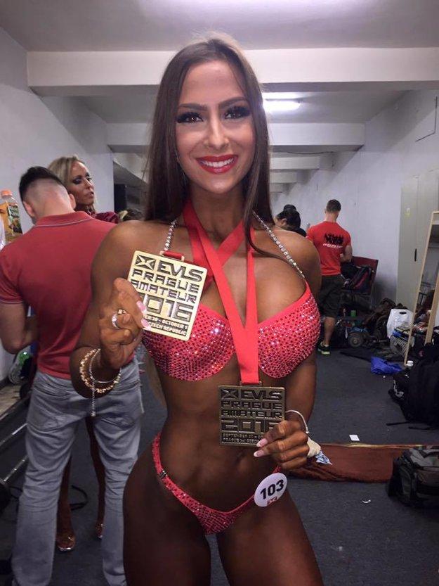 Tímea s trofejami