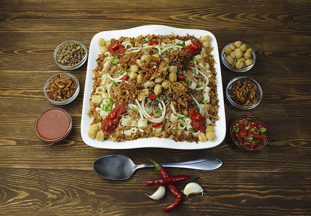 Kushari je považované v Egypte za národné jedlo.
