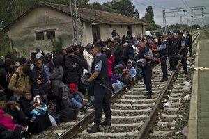 Migranti v Chorvátsku.