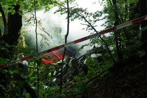 Miesto dopadu jedného z lietadiel.