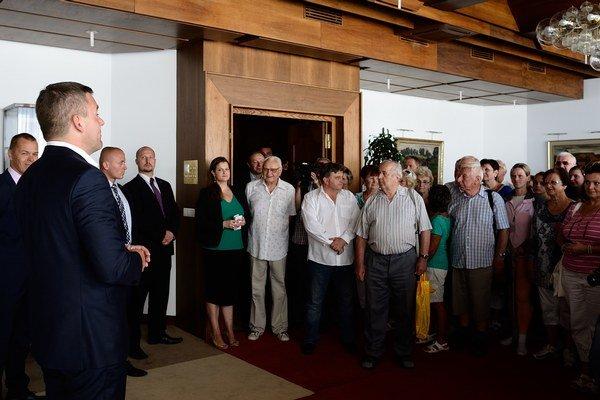 Návštevníkov v parlamente vítal Peter Pellegrini.