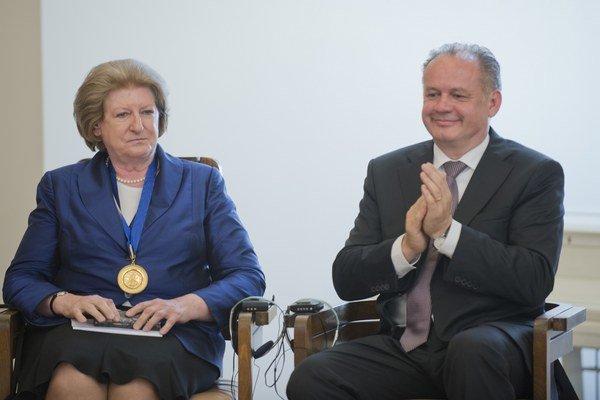 Hanna Suchocká a Andrej Kiska.