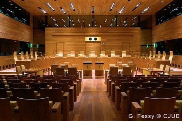 Pojednávacia miestnosť Európskeho súdneho dvora v Luxemburgu.