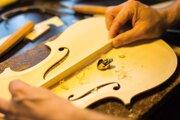Návštevníci mohli vidieť aj expozíciu výroby huslí a hudobných nástrojov.