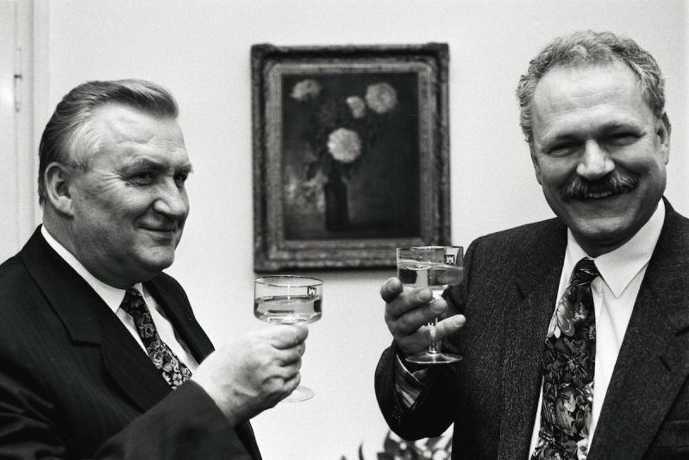 Michal Kováč and Ivan Gašparovič. Photo: TASR