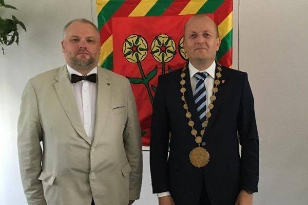 Rait Persidsky a Ondrej Brendza. (Zdroj: ARCHÍV MESTA STROPKOV)