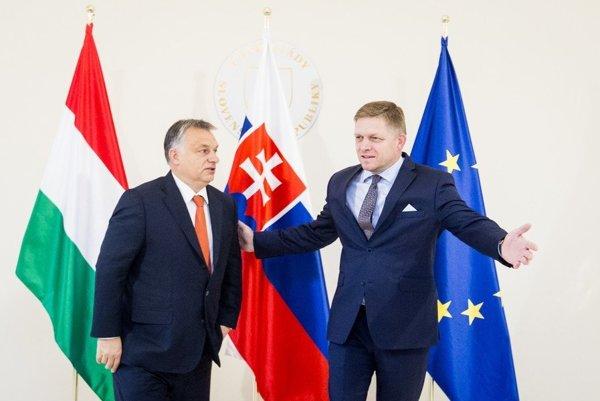 Viktor Orbán a Robert Fico, ilustračná snímka.