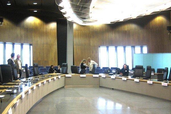 V Sídle Európskej komisie v Bruseli.
