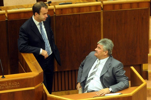 Podmanický s ministrom Richterom.