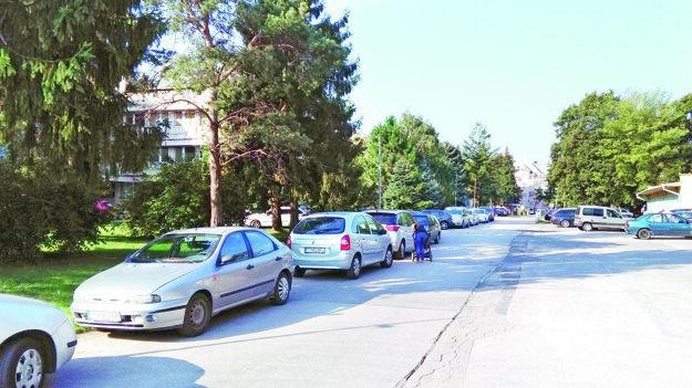 Autá lemujú takmer všetky cesty v areáli.