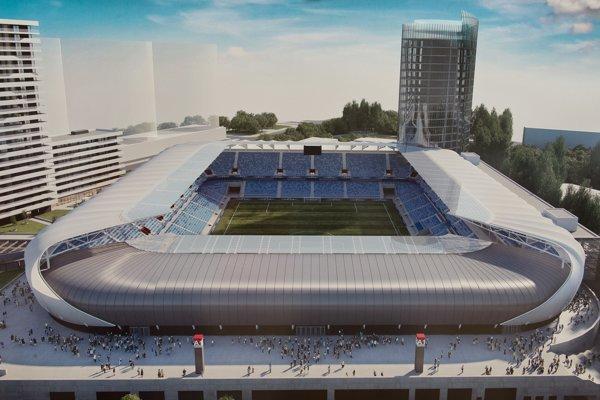 Takto má vyzerať Národný futbalový štadión v roku 2018.