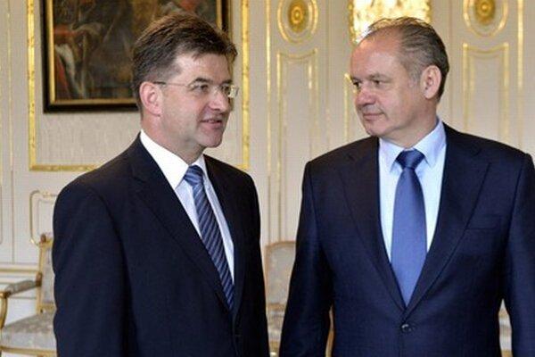 Šéf diplomacie Miroslav Lajčák a prezident Andrej Kiska.
