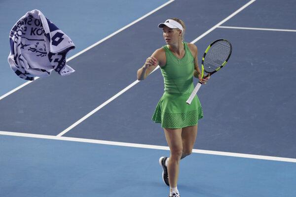 Caroline Wozniacka vyhrala turnaj v Hongkongu.