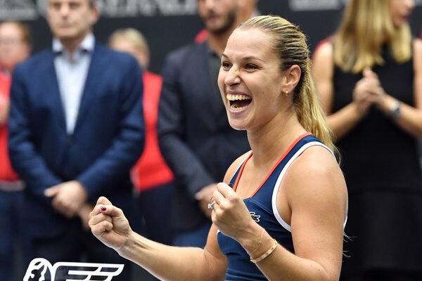 Dominika Cibulková v rebríčku opäť stúpla.