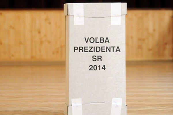 Volebná urna v Hrušovanoch.