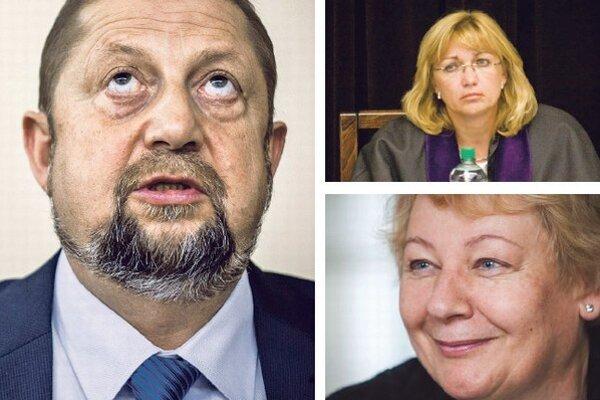 Kandidáti Štefan Harabin, Jana Bajánková a Zuzana Ďurišová.