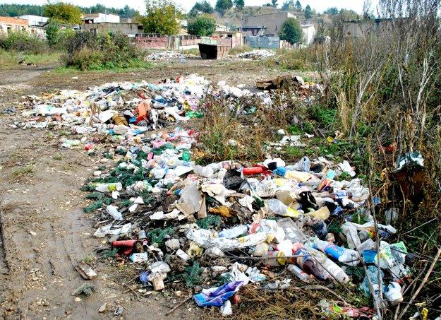 Odpad pri miestnej osade. Je len 50 metrov od zberného dvora.