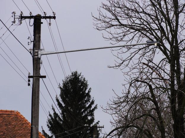 Nezvyčajne dlhá lampa si svoj strom dočiahla.