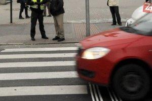 Nehoda sa stala na priechode pre chodcov.