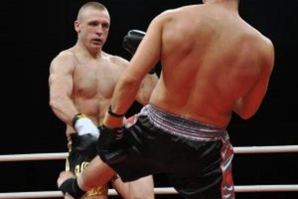 Michal Hromek v zápase s Hosszuom.