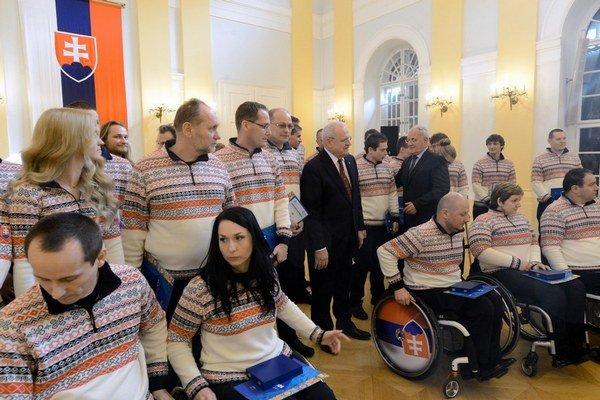 Paralympionici na sľube u prezidenta.