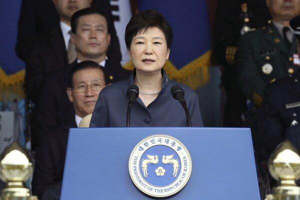Juhokórejská prezidentka Pak Kun-hje.