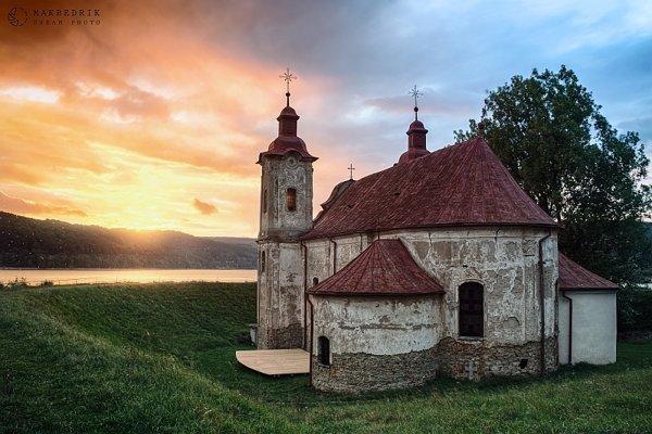 Kelčiansky kostol ostal zachovaný.