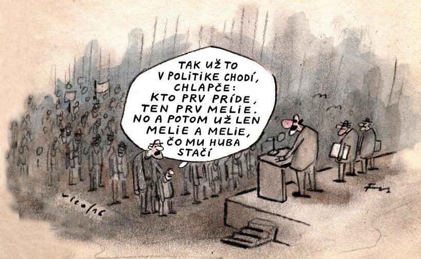 Kto prv príde, ten viac melie (kreslí Vico) 24. október
