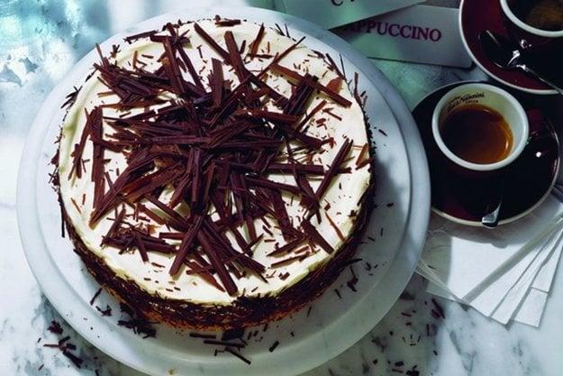 Čokoládovo-tvarohová torta
