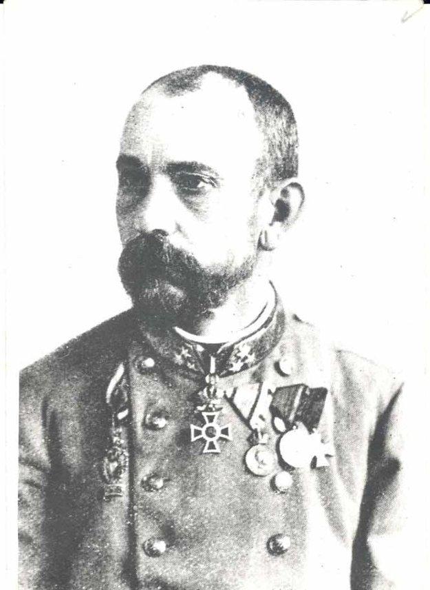 Podmaršal Anton von Galgótzy, majiteľ 71. pešieho pluku vrokoch 1891 – 1918.