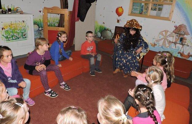 V Kysuckej knižnici v čadci sa deťom páčilo.