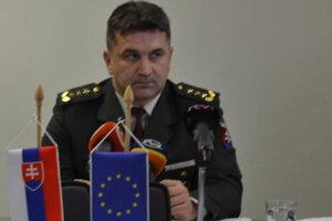 Krajský policajný riaditeľ Dušan Sabol. Komentoval indicent vo Vranove.