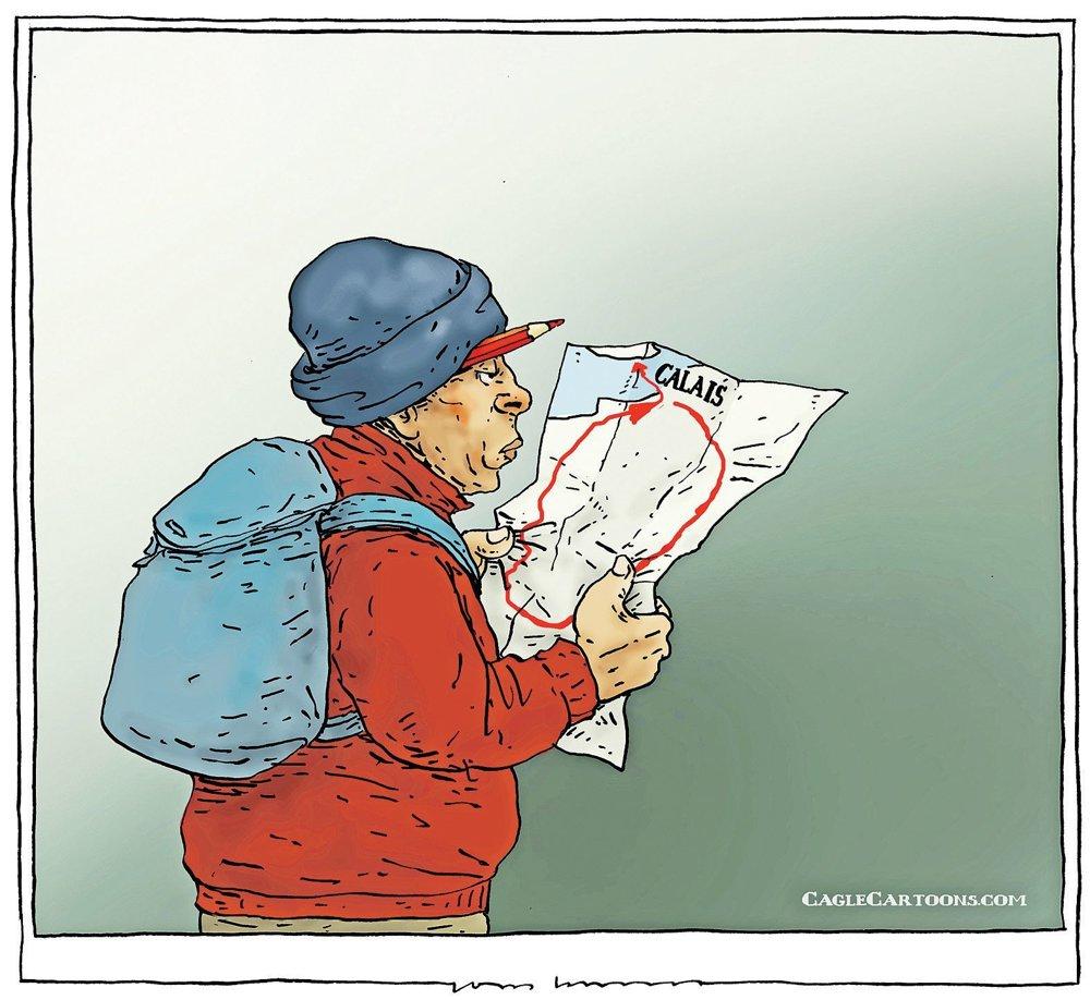 Cestovná mapa.