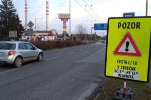 Cesta medzi Martinom a Žilinou bude cez víkend prejazdná.
