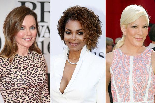 Geri Halliwell, Tori Spelling, Janet Jackson