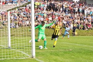 V Oravskom Veselom zažili na jeseň veľký sviatok. V treťom kole Slovenského pohára privítali Slovan Bratislava.