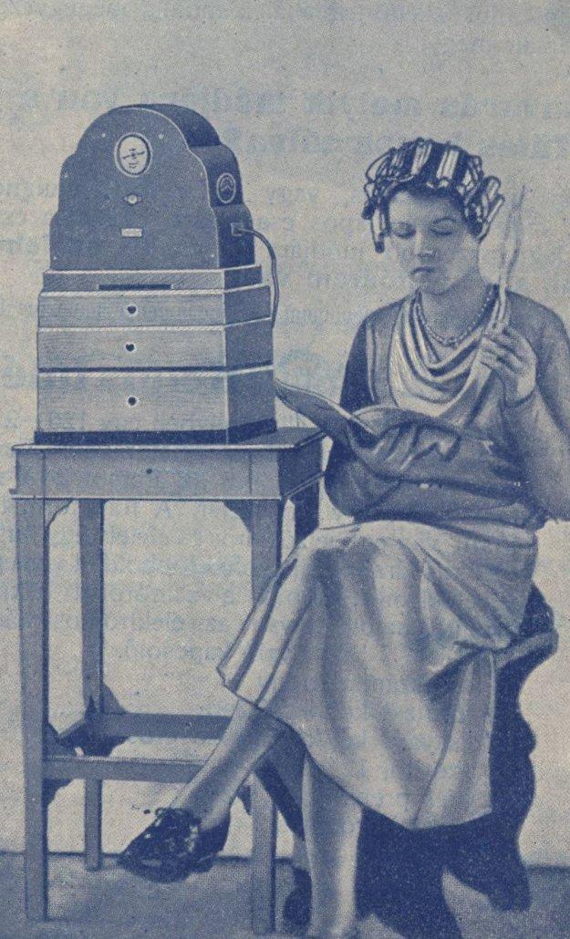 Dobová reklama z prostredia kaderníctva v roku 1921.