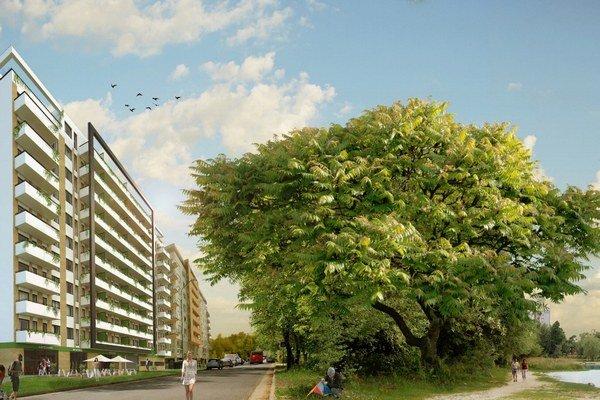 Rezidencia Draždiak ponúka na trh 150 bytov a apartmánov.