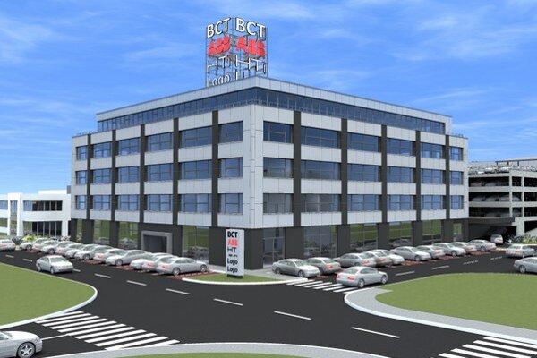 Nová polyfunkčná budova ponúka viac ako 6 000 metrov štvorcových prenajímateľnej kancelárskej a skladovej plochy v štandarde A.