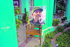 Fotografia bývalého kubánskeho lídra Fidela Castra.