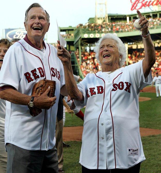 Barbara Bushová s manželom