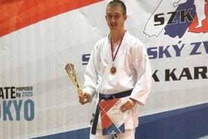 Kristián Michalec, majster Slovenska v karate.
