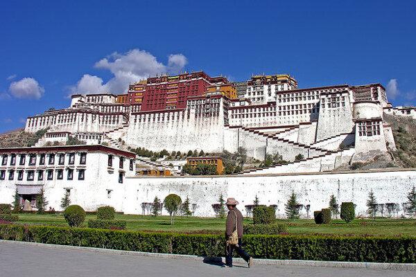 Palác Potala v tibetskej Lhase.