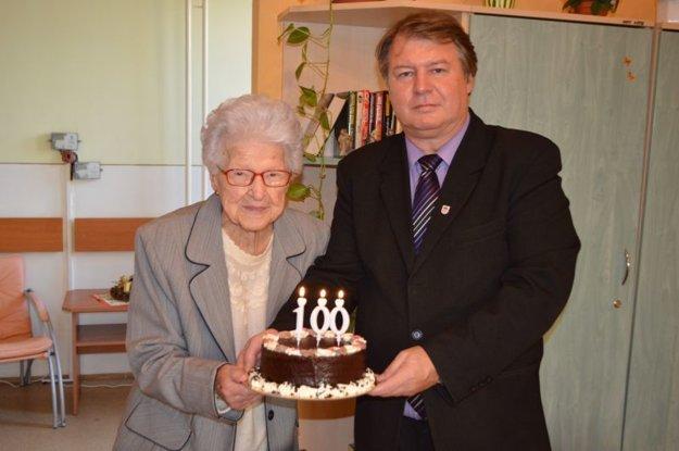 Starosta Ľ. Grega s pani T. Gerhardovou.