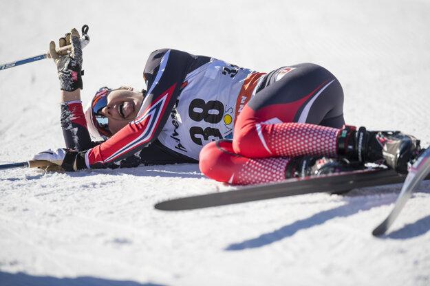 Ingvild Flugstad Östbergová bola v cieli pretekov poriadne vyčerpaná.